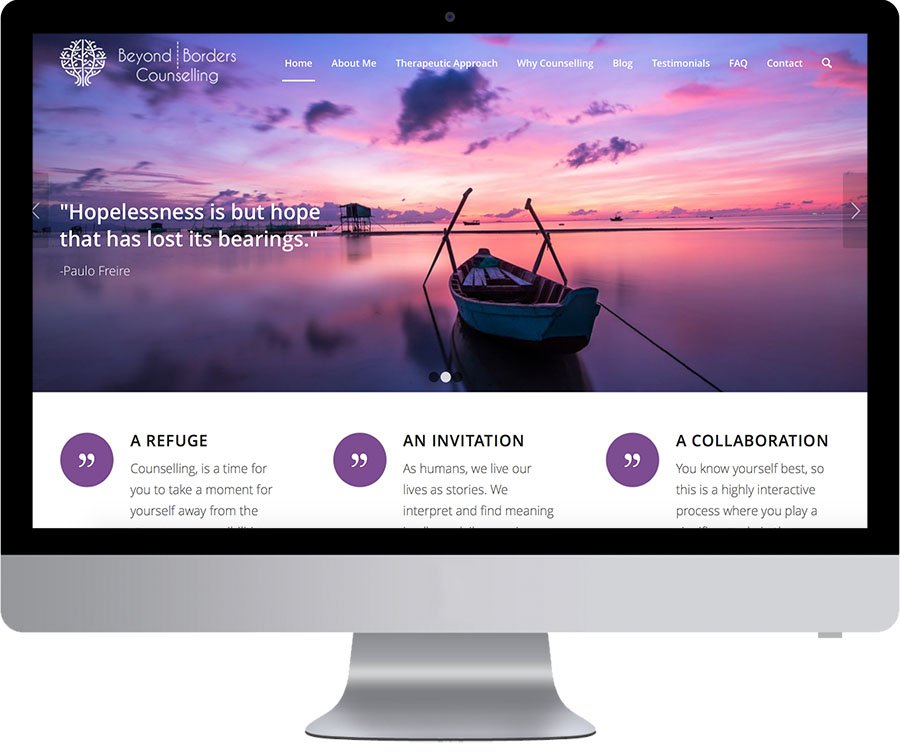 Vancouver Web Design - Beyond Borders Counselling