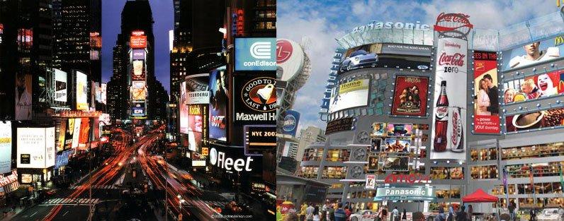 Times Square vs Dundas Square