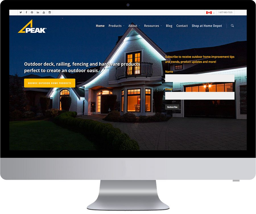Richmond Web Design - Peak Products