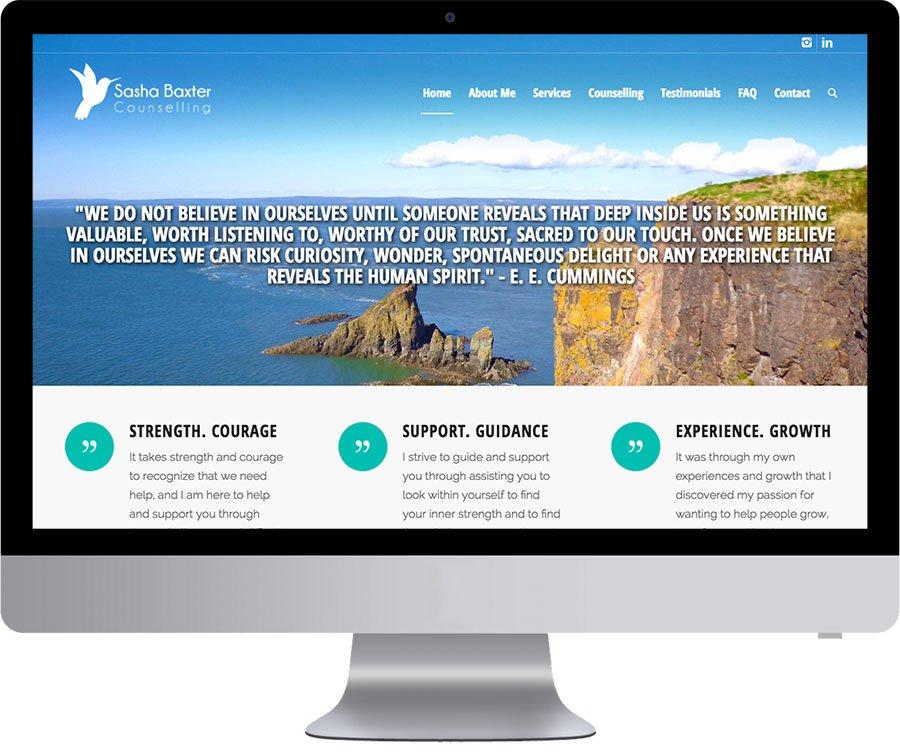 Halifax Web Design - Onur Kurtic Design - Sasha Baxter Counselling