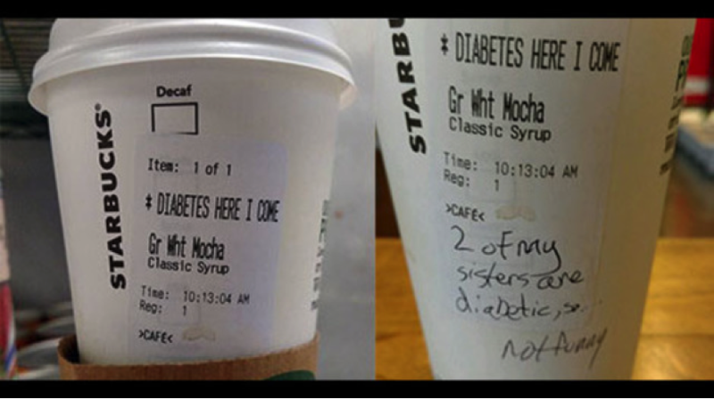 Starbucks Label Incident