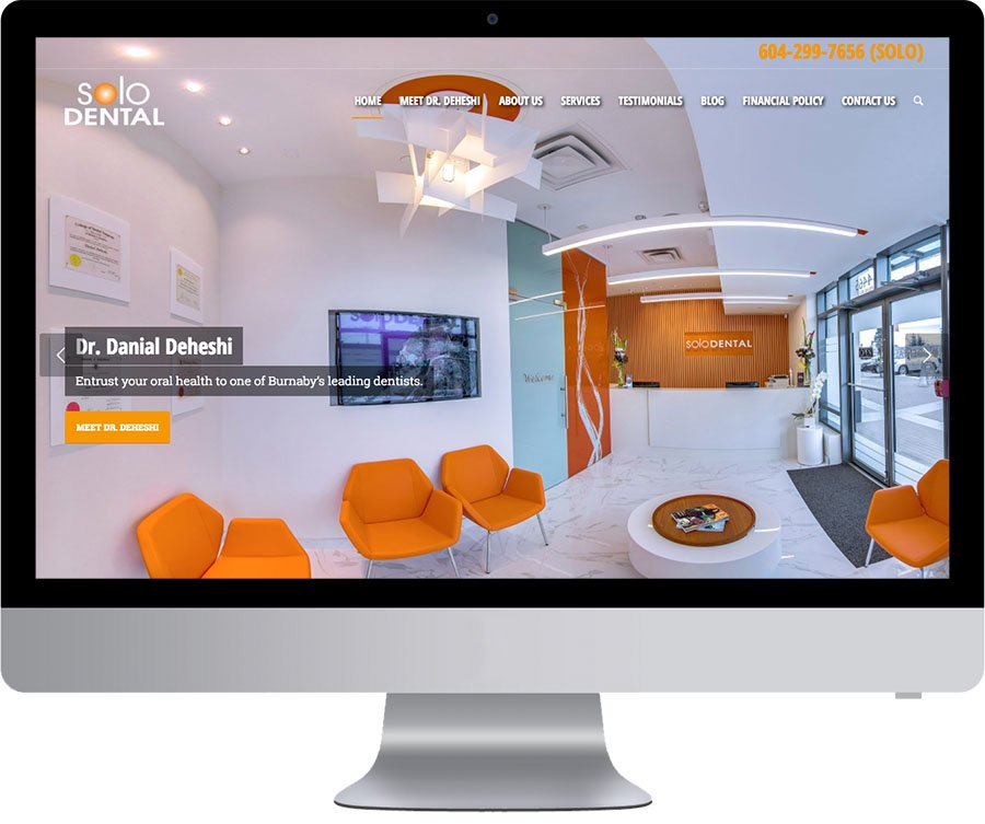 Burnaby Web Designer - Solo Dental