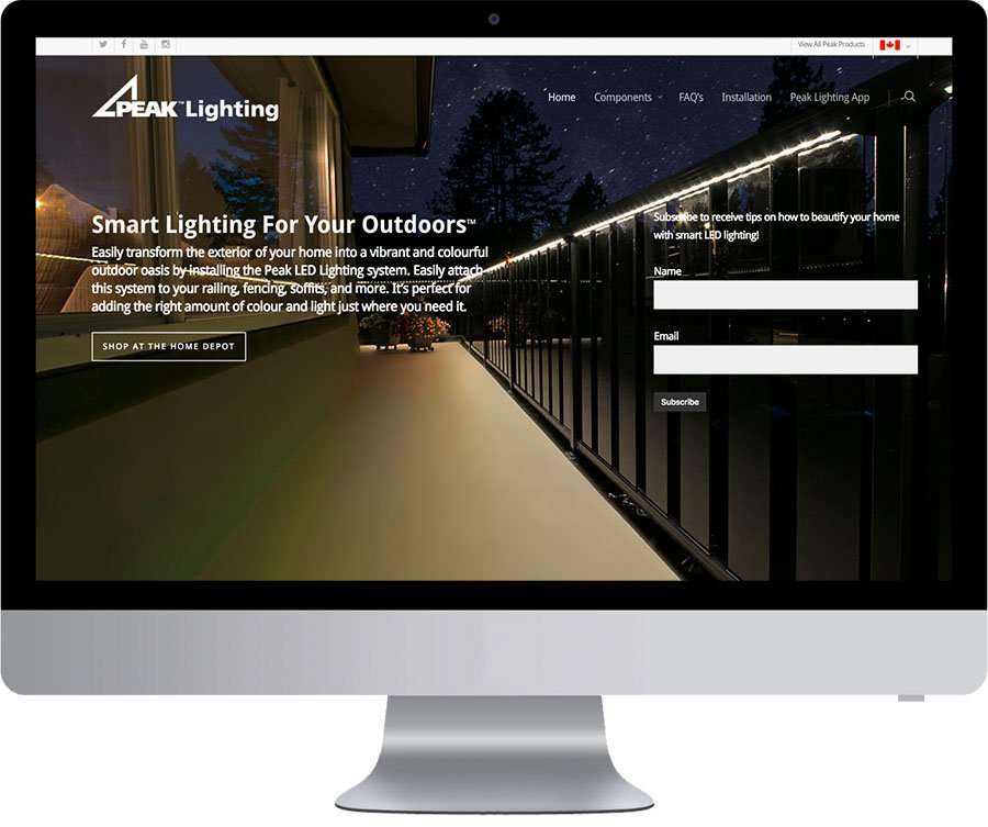 Vancouver Web Design - Peak LED