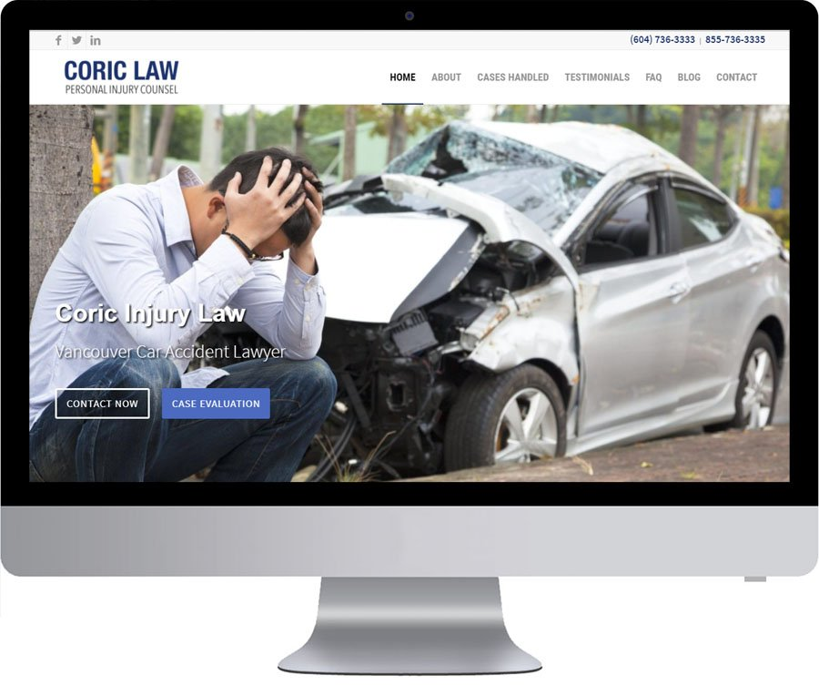 Vancouver WordPress Website Design - Coric Law