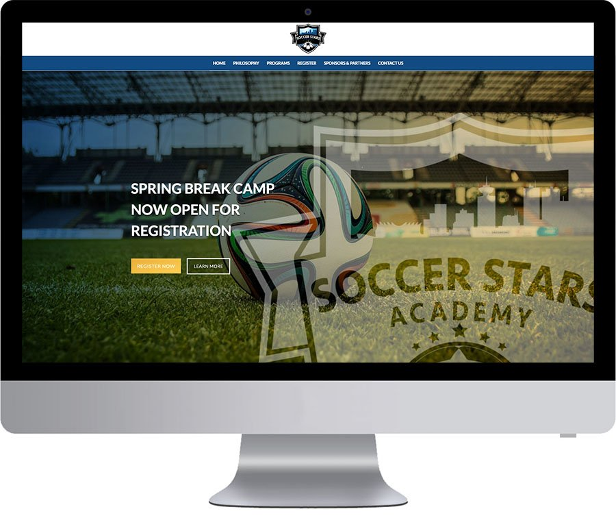 Vancouver WordPress Website Design - Soccer Stars