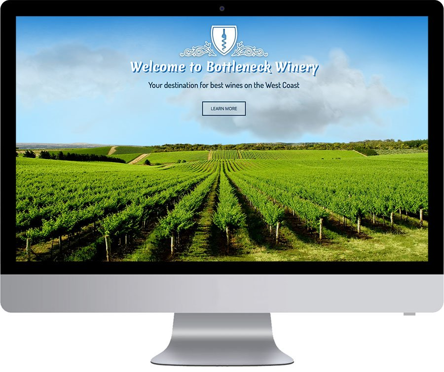 Bottleneck Winery Web Design