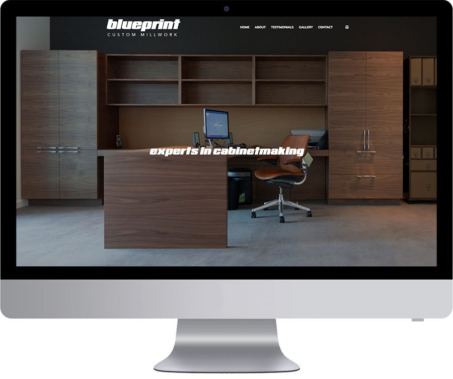Vancouver WordPress Website Design - Blueprint Custom Millwork