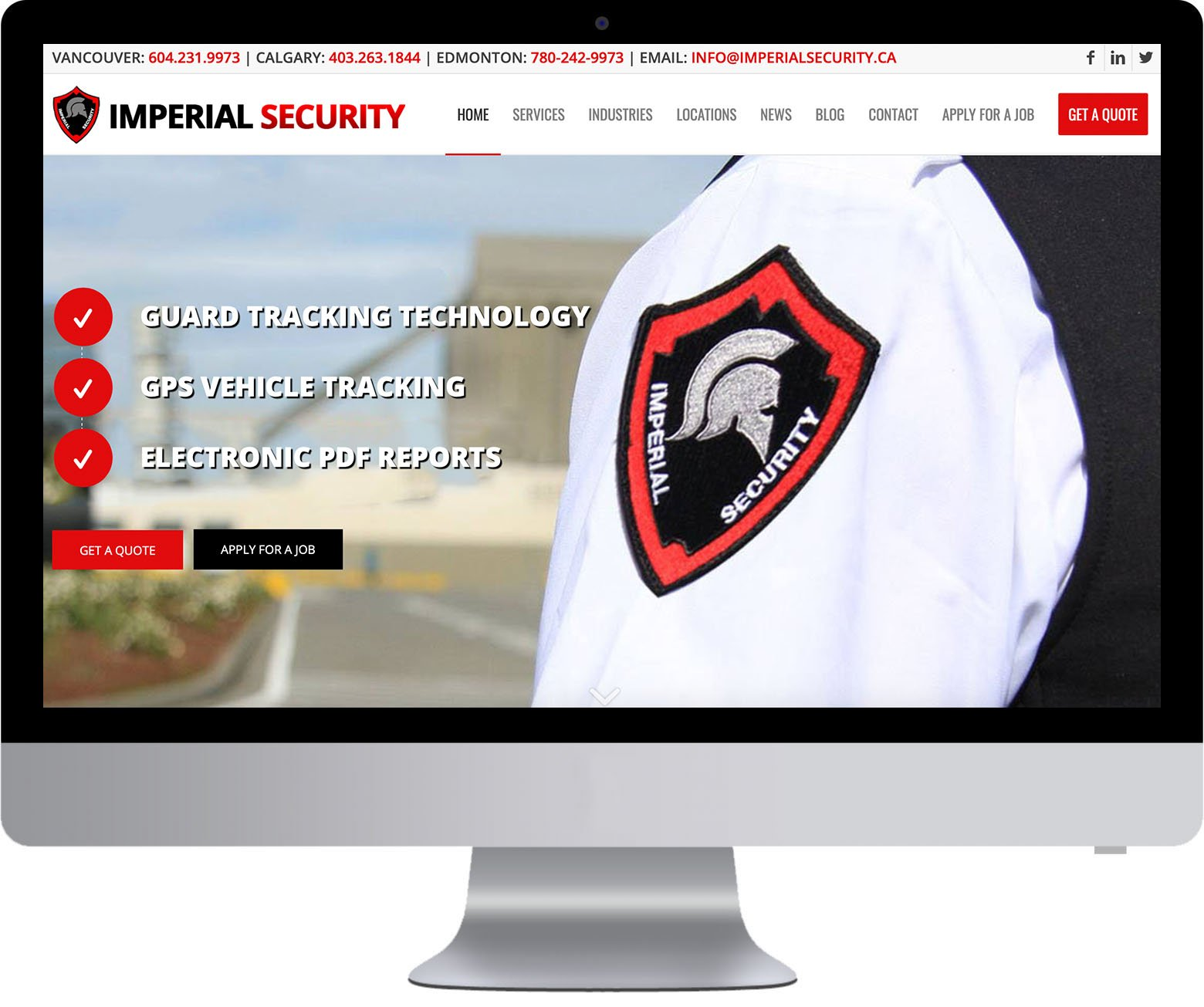 Vancouver WordPress Website Development - Imperial Security