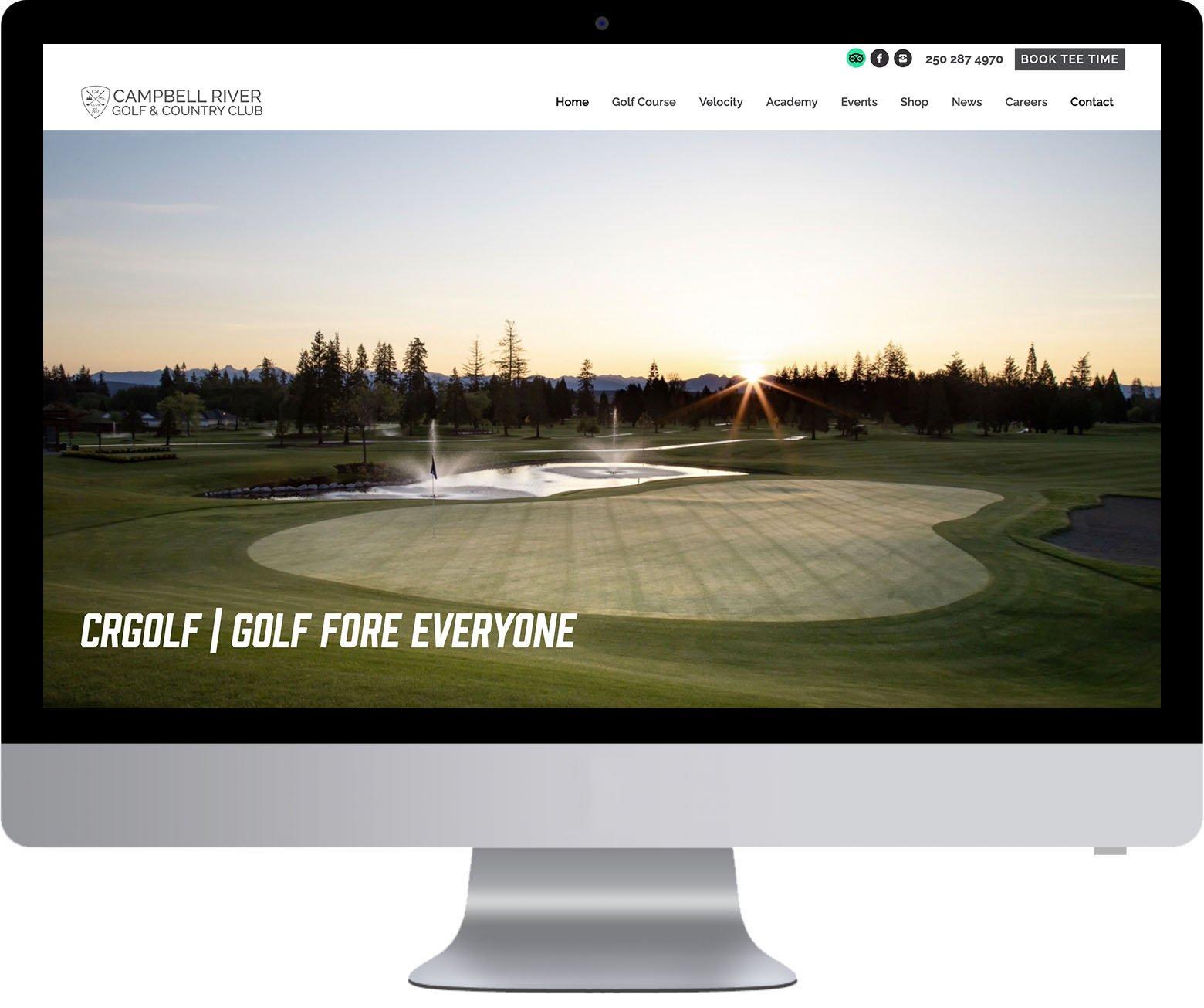 Vancouver Island Website Development - CR Golf
