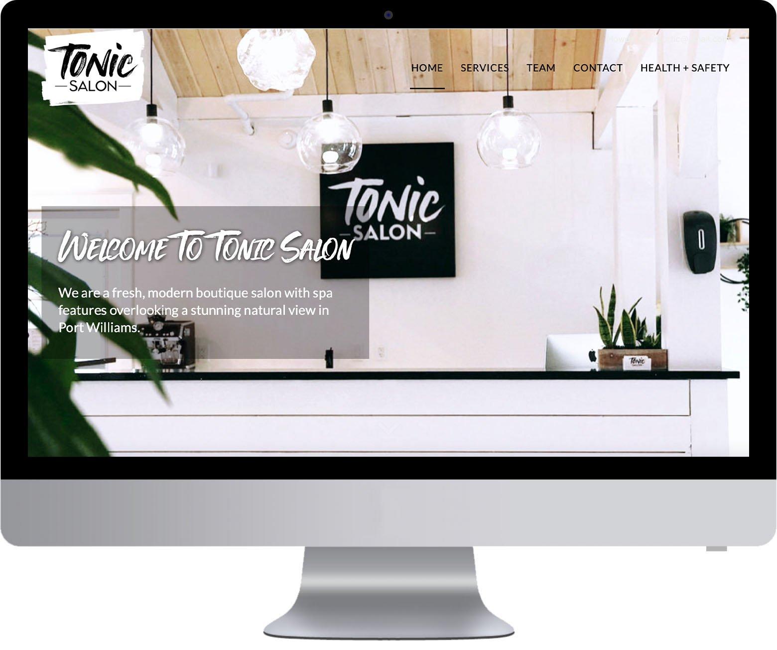 Nova Scotia Website Development - Tonic Salon