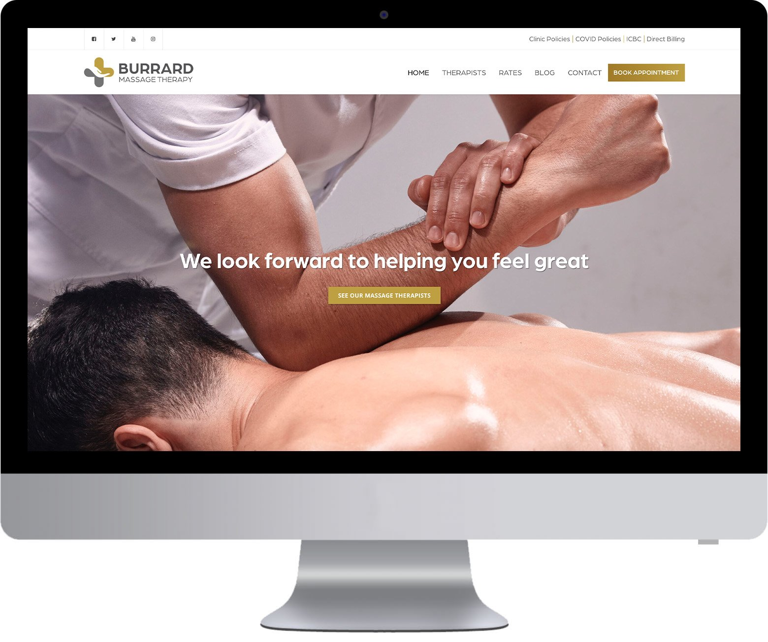 Vancouver WordPress Website Development - Burrard Massage Therapy