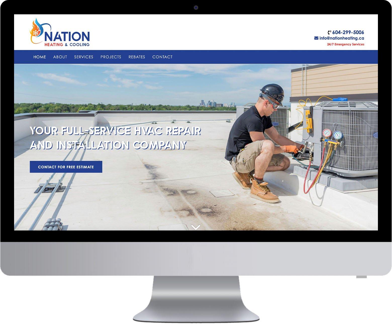 Vancouver WordPress Website Development - Nation Heating